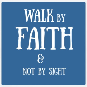 walk by faith - Men's Premium T-Shirt
