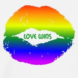 LOVE WINS lips - Men's Premium T-Shirt