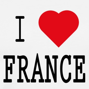 I Love France II - Premium T-skjorte for menn