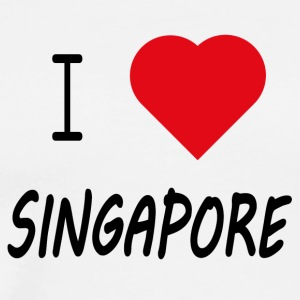 I Love Singapore - Männer Premium T-Shirt