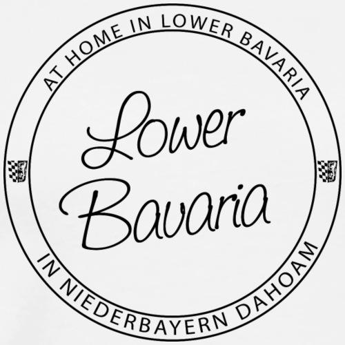 Lower Bavaria Black - Männer Premium T-Shirt
