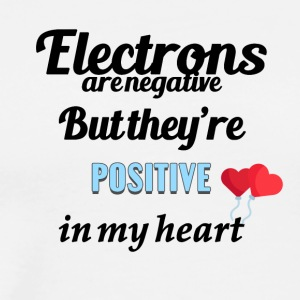 Electrons are negative - Men's Premium T-Shirt