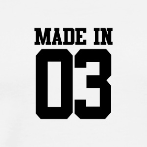 MADE IN 03-2003 - VERJAARDAG - Mannen Premium T-shirt