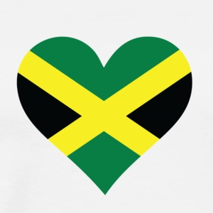 Et hjerte for Jamaica - Premium T-skjorte for menn