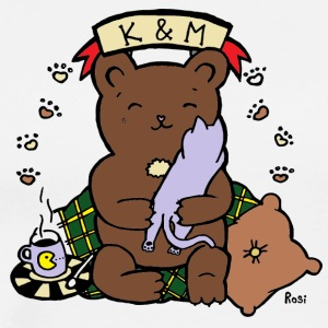 K / M - Cozy Bear / Kitty - Rosi - Männer Premium T-Shirt