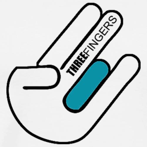 3 Finger LOGO - Männer Premium T-Shirt