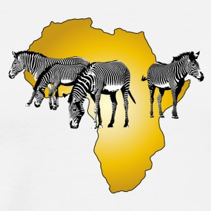 The Spirit of Africa - Zebras afrikanska Serengeti - Premium-T-shirt herr