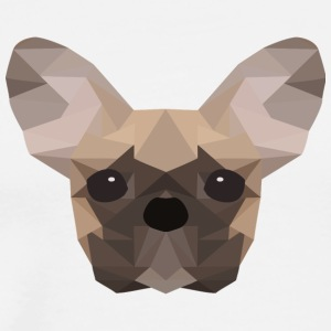 French Bulldog Low Poly - Mannen Premium T-shirt