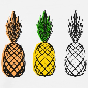 Ananas - Collage - Herre premium T-shirt