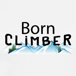 Born Rock Mountain Climber - Men's Premium T-Shirt