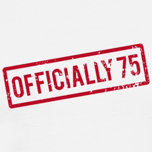 75th birthday: Officially 75 - Men's Premium T-Shirt