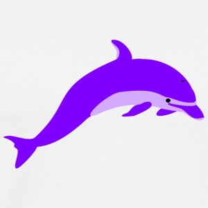 Purple delfin - Premium T-skjorte for menn