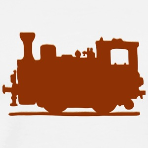 Vintage Steam Train - Premium-T-shirt herr