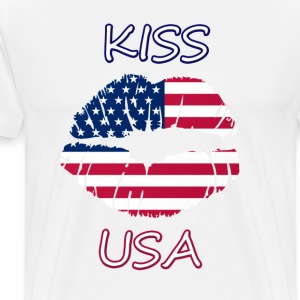 Kiss US - Premium-T-shirt herr