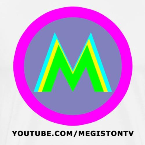Megiston Logo Nero - Maglietta Premium da uomo