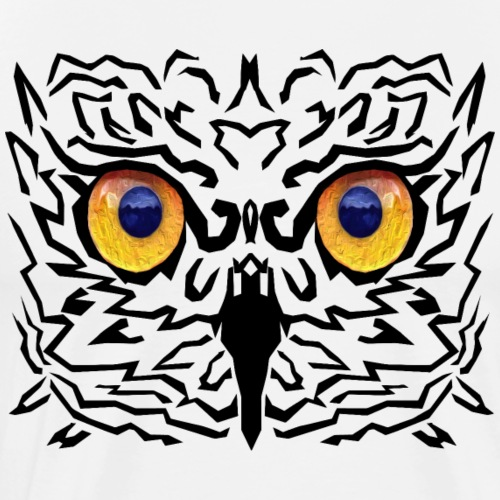 Owl Face - Men's Premium T-Shirt