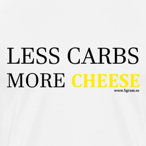 LESS CARBS MORE CHEESE YELLOW - Premium-T-shirt herr
