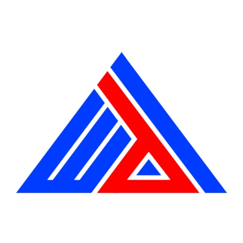 Edi Triangle Logo, Blue Red Blue Pyramid - Mannen Premium T-shirt