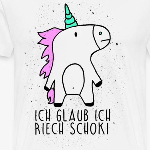 Unicorn / Einhorn riecht Schokolade - Männer Premium T-Shirt