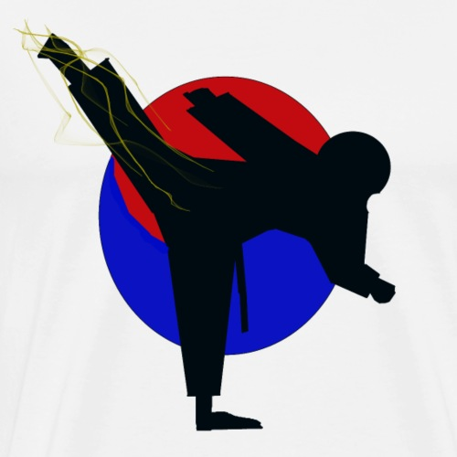 Taekwondo fighter design - Mannen Premium T-shirt