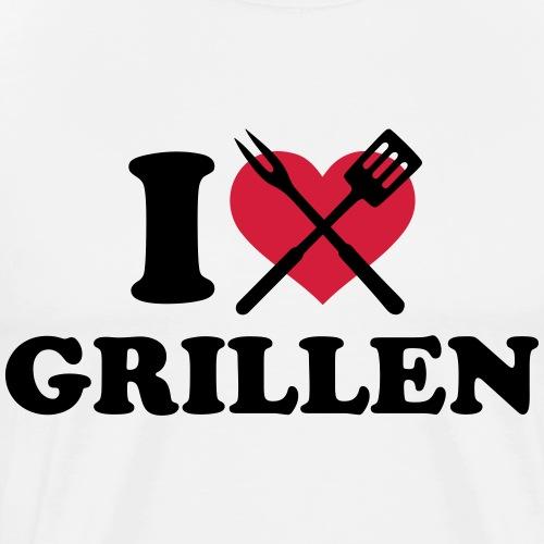 i love grillen - Männer Premium T-Shirt