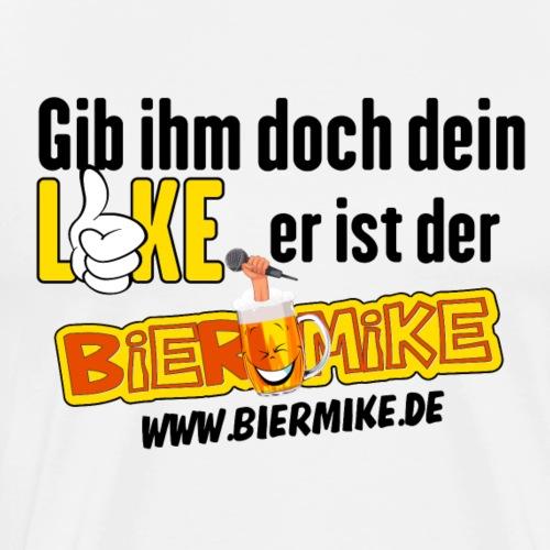 BIERMIKE LOGO für weisse T-SHIRTS - Männer Premium T-Shirt