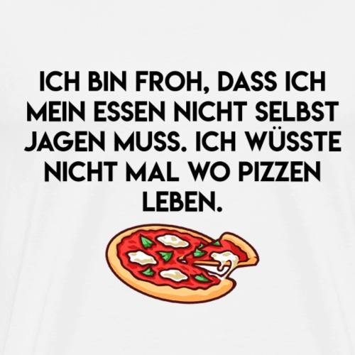 PIZZEN JAGEN - Männer Premium T-Shirt