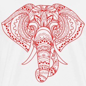 Elephant Head red - Premium-T-shirt herr