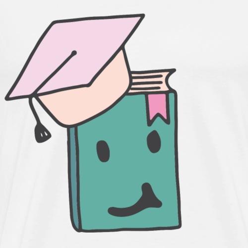 Kluges Buch Schule lernen Geschenk Sketch Shirts - Männer Premium T-Shirt