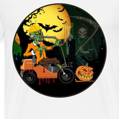 Staplerfahrer Halloween Shirt mit Sensemann - Männer Premium T-Shirt