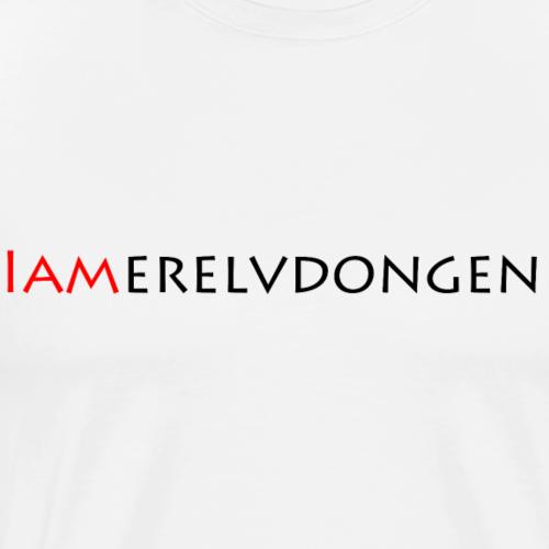 Merel van Dongen | Black - Mannen Premium T-shirt