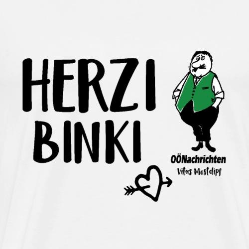 Herzibinki - Vitus Mostdipf - Männer Premium T-Shirt