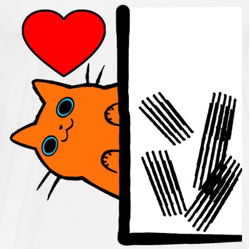Katzen Liebesbeweis - Männer Premium T-Shirt