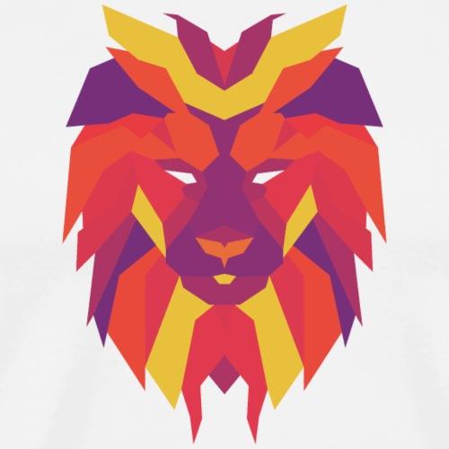 VIbrant Lion Head - Men's Premium T-Shirt