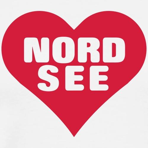 Die Nordsee im Herzen - Männer Premium T-Shirt