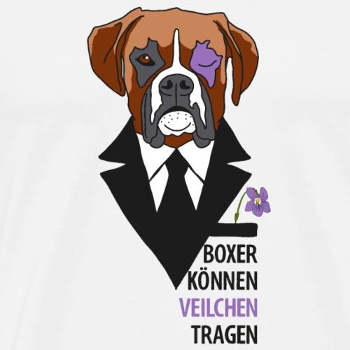 Hunde Boxer Veilchen - Männer Premium T-Shirt