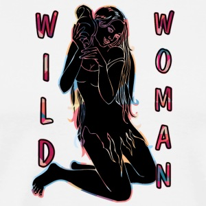 wild woman sexy girl black - Men's Premium T-Shirt