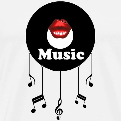 Schallplatte Kiss - Männer Premium T-Shirt