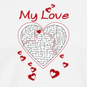 Heart labyrinth - Men's Premium T-Shirt