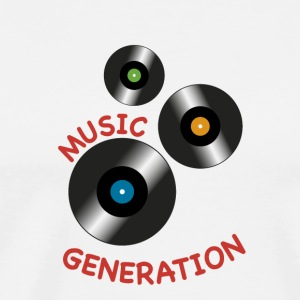 Cd vinyl music generation - Men's Premium T-Shirt