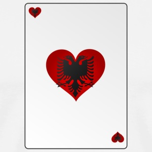 Card Heart Ass Albania Heart - Men's Premium T-Shirt