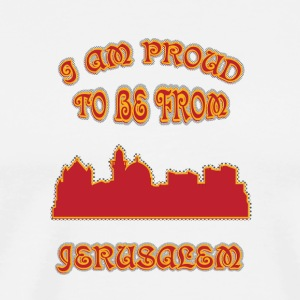 Jerusalem I am proud to be from - Men's Premium T-Shirt