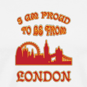 London I am proud to be from - Men's Premium T-Shirt