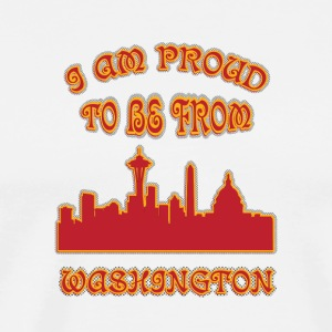 Washington I am proud to be from - Men's Premium T-Shirt