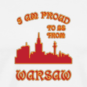 Warsaw I am proud to be from - Men's Premium T-Shirt