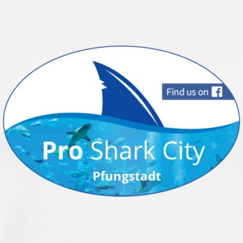 SharkCity TShirt FindUsOnPfungstadt - Männer Premium T-Shirt