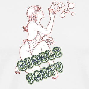 BUBBLE PARTY MIT SEXY GIRL - Männer Premium T-Shirt