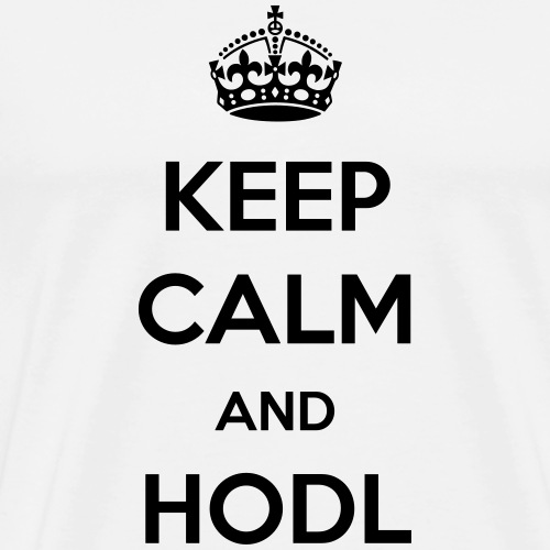 Keep calm and HODL | Black - Men's Premium T-Shirt