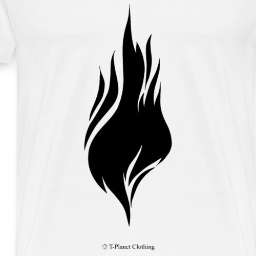 Black Flame - Maglietta Premium da uomo