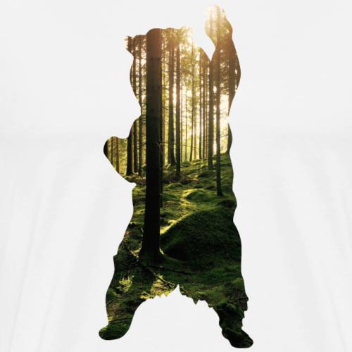 Bär Wald-Foto - Männer Premium T-Shirt